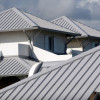 Grey metal roofing